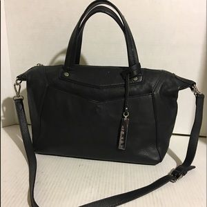 Vince Camuto Black leather satchel/ shoulder bag